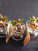 Chopped herring salad with apples
