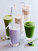 Various healthy smoothies