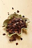 Schalen der Kaffeekirsche, getrocknet