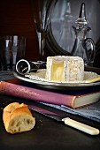 Chaource cheese and baguette