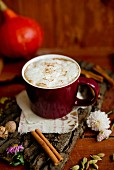 Pumpkin spice latte (coffee speciality, USA)