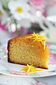 Orange cake with orange zest