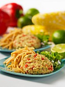 Celery coleslaw with cold corn cakes (Mexico)