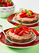 Coconut and strawberry tartlets