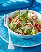 Thai crab salad with lime and Thai basil