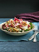 Radicchio salad with walnuts and blue cheese