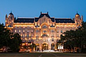 A view of the 'Four Seasons' Hotel in the elegant Gresham Palace in Budapest, Hungary