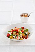 Pasta salad with tomatoes and ricotta