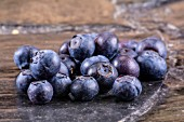 Blueberries on a stone platter