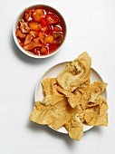 Deep fried wontons and pork with pineapple and peppers (Asia)