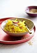 White cabbage salad with chilli peppers