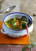 Shorba soup with vegetables