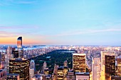 Skyline von Manhattan mit Central Park (New York, USA)