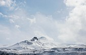 Mount Tindfell in winter on the peninsula of Snaefellsnes (Iceland)