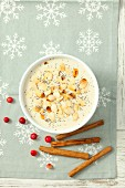 Christmas almond soup