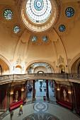 The magnificent hall of the art nouveau Gellért Baths, Budapest, Hungary