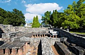 Ruins of the baths at Aquincum, Budapest, Hungary