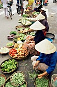 A street market in Danang, Vietnam, Indochina, South-East Asia