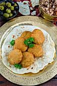 Falafel (chickpea dumplings, Arabia)