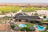 'Brandberg White Lady Lodge' on the Brandberg, Namibia's highest mountain massive