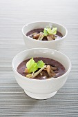 Brown rice porridge with shiitake mushrooms (Asia)