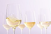 Several glasses of white wine