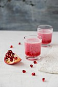 Pomegranate smoothies