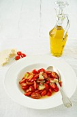 Cherry tomato salad with a lemon dressing