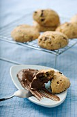Chocolate chip cookies and fleur de sel