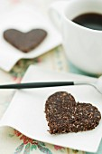 Chocolate and coconut hearts