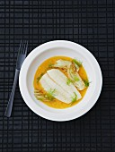 Halibut in fennel broth