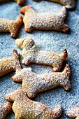 Dachshund-shaped shortbread biscuits