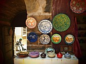Handicrafted objects for sale in the Medina of Essaouira, Morocco