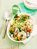Asparagus, chicken and barley salad