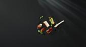 Schweinebauch mit Kaffeelack, Zichorie und Feige (Flavour Pairing)