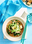 Braised wombak and tofu