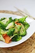Broccoli salad with carrots
