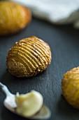 Hasselback potatoes with garlic mayonnaise