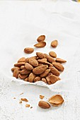 Almonds on a muslin cloth