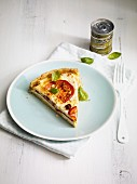 Tomato quiche with feta cheese