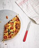 Courgette and tomato quiche