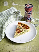 Asparagus quiche with mascarpone