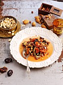 Dried fruit compote with almonds (North Africa)