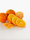 Orange and mandarin slices and segments