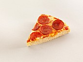 A slice of pepperoni pizza