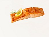 Roast salmon fillet with lemon and dill