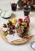 Beef kebabs with peppers
