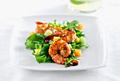A rocket, prawn and melon salad