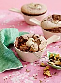Chocolate and honeycomb souffle