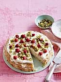 Passionfruit citrus crepe cake